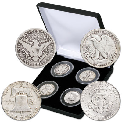 Image for Classic Silver U.S. Half Dollar Type Set from Littleton Coin Company