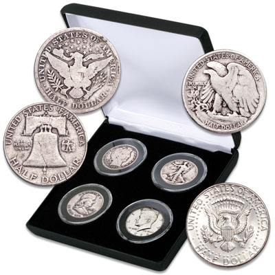 Image for Classic Silver Half Dollar Type Set from Littleton Coin Company
