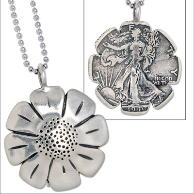 Image for Daisy Liberty Walking Half Dollar Necklace from Littleton Coin Company