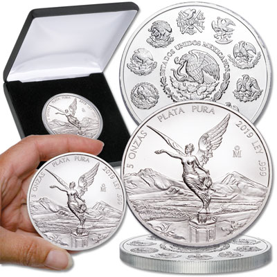 Image for 2019 Mexico 5 oz. Silver Libertad from Littleton Coin Company