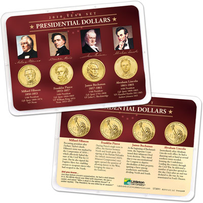 Image for 2010 Presidential Dollar Year Set in Showpak (4 coins) from Littleton Coin Company
