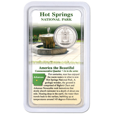 Image for 2010 Hot Springs America's National Park Quarter in Showpak from Littleton Coin Company