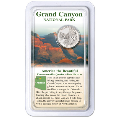 Image for 2010 Grand Canyon National Park Quarter in Showpak from Littleton Coin Company