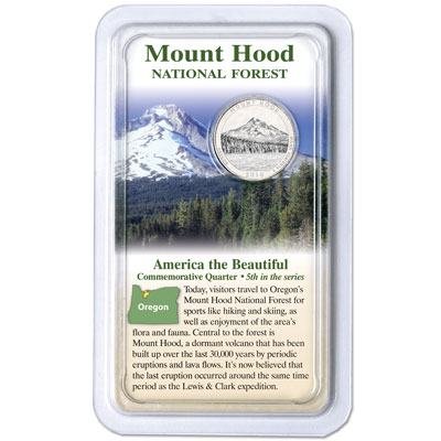 Image for 2010 Mount Hood National Forest Quarter in Showpak from Littleton Coin Company