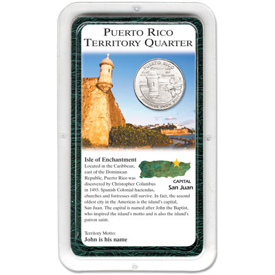 Image for 2009 Puerto Rico Quarter in Showpak, Uncirculated, MS60 from Littleton Coin Company