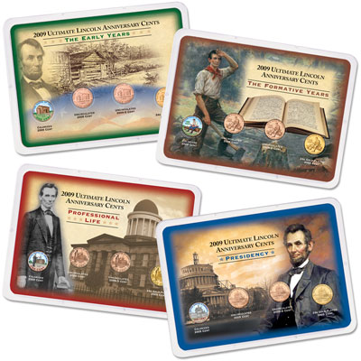 Image for 2009 4 Ultimate Lincoln Head Cent Showpak Sets from Littleton Coin Company
