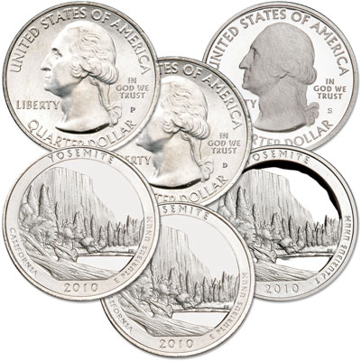 Image for 2010 PDS Yosemite Quarter Set (3 coins) from Littleton Coin Company