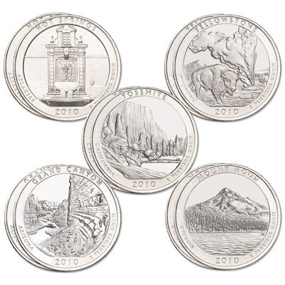 Image for 2010 National Park Quarter Year Set (10 coins) from Littleton Coin Company
