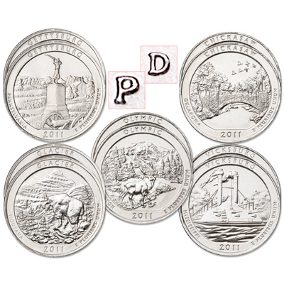 Image for 2011 National Park Quarter Year Set from Littleton Coin Company