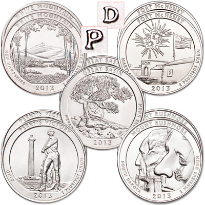 Image for 2013 National Park Quarter Year Set from Littleton Coin Company