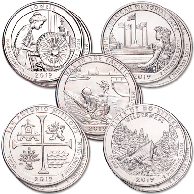 Image for 2019 P&D National Park Quarter Year Set from Littleton Coin Company