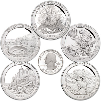 Image for 2012-S Clad America's National Park Quarter Proofs (5 coins) from Littleton Coin Company