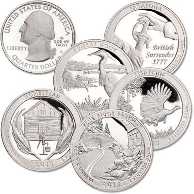 Image for 2015-S Clad America's National Park Quarter Proofs (5 coins) from Littleton Coin Company