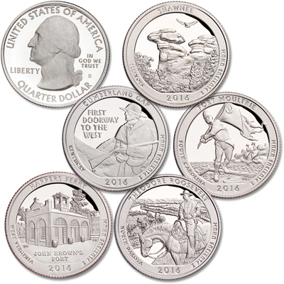 Image for 2016-S Clad America's National Park Quarter Proofs from Littleton Coin Company
