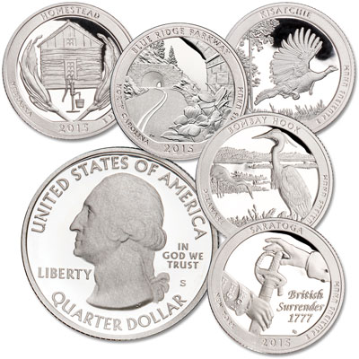 Image for 2015-S 90% Silver America's National Park Quarter Proofs (5 coins) from Littleton Coin Company