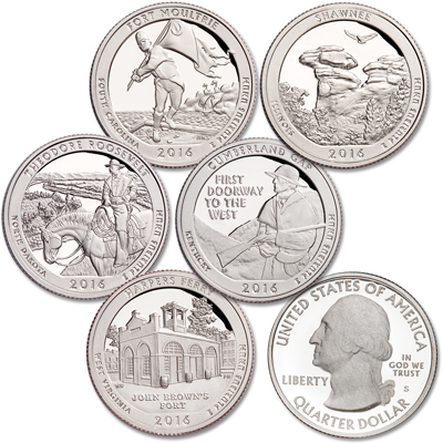 Image for 2016-S 90% Silver America's National Park Quarter Proofs from Littleton Coin Company