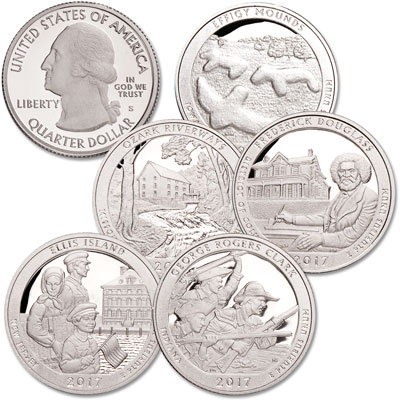 Image for 2017-S 90% Silver America's National Park Quarter Proofs from Littleton Coin Company