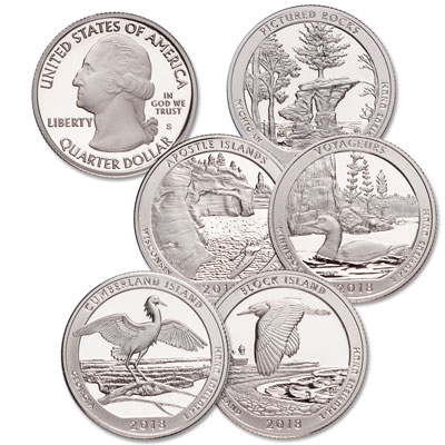 Image for 2018-S 90% Silver America's National Park Quarter Proofs from Littleton Coin Company