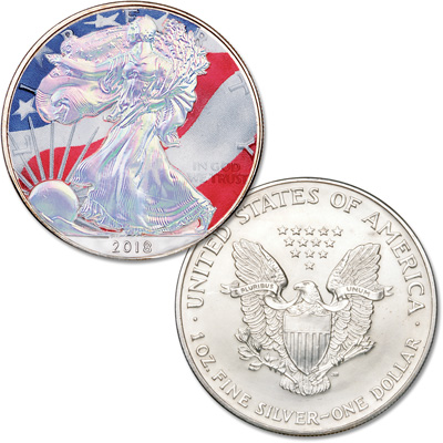 Image for 2018 Colorized & Hologram Silver American Eagle from Littleton Coin Company