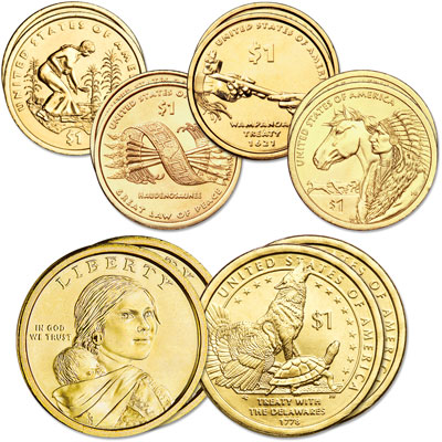 Image for 2009-2013 P&D Native American Dollar Set (10 coins) from Littleton Coin Company
