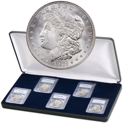 Image for 1878-1921 All-Mint Morgan Dollar Set, PCGS Certified from Littleton Coin Company