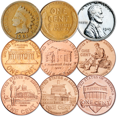 Image for 1860-2010 150 Years of Penny Designs from Littleton Coin Company