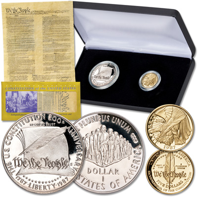Image for 1987 U.S. Constitution Commemorative Set with Free Gift from Littleton Coin Company