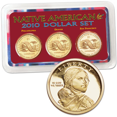 Image for 2010 PDS Native American Dollar Showpak, Uncirculated/Proof from Littleton Coin Company