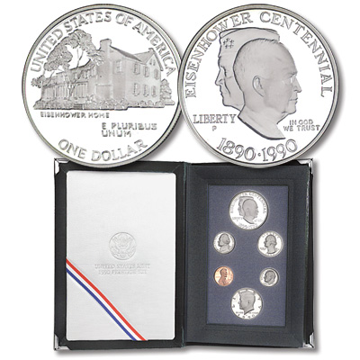 Image for 1990 U.S. Mint Prestige Proof Set (6 coins), Choice Proof, PR63 from Littleton Coin Company