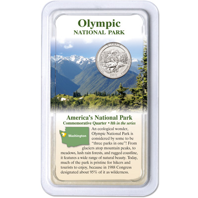 Image for 2011 Olympic National Park Quarter in Showpak from Littleton Coin Company