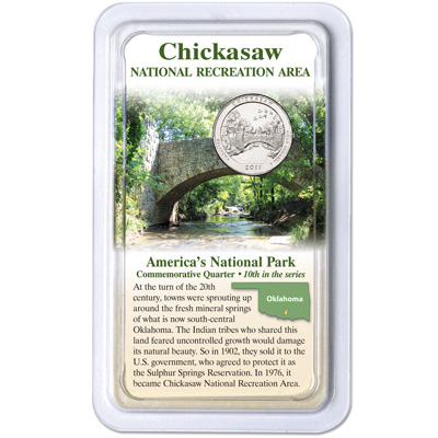 Image for 2011 Chickasaw National Park Quarter in Showpak from Littleton Coin Company