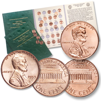 Image for 1959-2008 Lincoln Memorial Cents with 2 Folders from Littleton Coin Company