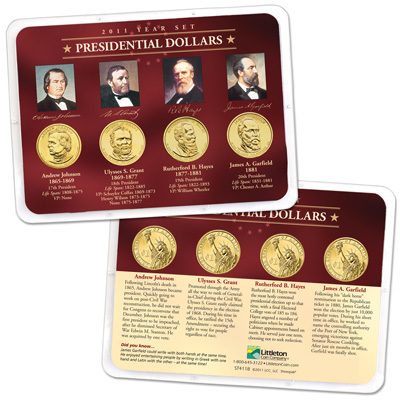 Image for 2011 Presidential Dollar Year Set in Showpak (4 coins) from Littleton Coin Company