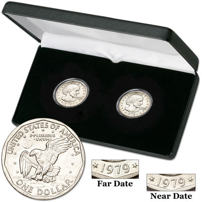 Image for 1979-P Near & Far Date Susan B. Anthony Dollar Set from Littleton Coin Company
