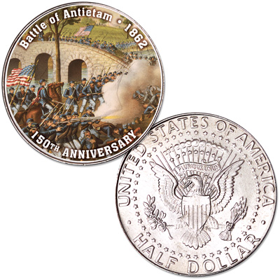 Image for 2012 Colorized Civil War Kennedy Half Dollar Battle of Antietam from Littleton Coin Company