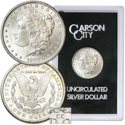 Image for 1883-CC Morgan Dollar in Government Holder, with Display Box from Littleton Coin Company
