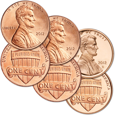 Image for 2012 PDS Lincoln Cent Set (3 coins) from Littleton Coin Company