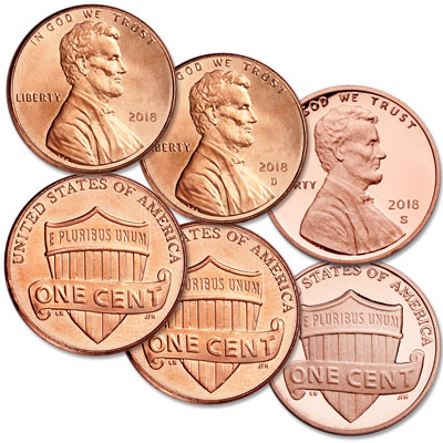 Image for 2018 PDS Lincoln Cent Set from Littleton Coin Company