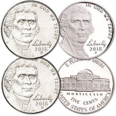 Image for 2018 PDS Jefferson Nickel Set from Littleton Coin Company