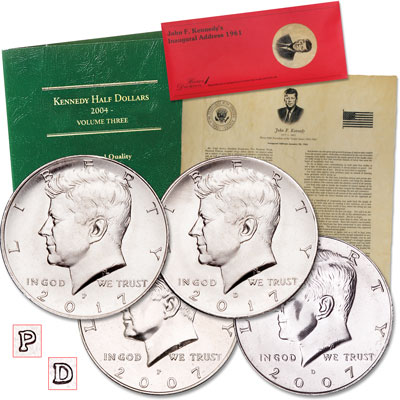 Image for 2007-2017 P&D Kennedy Half Dollar Set from Littleton Coin Company