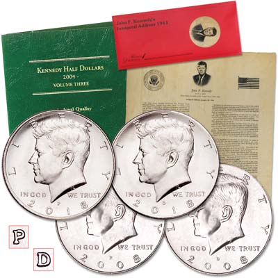 Image for 2008-2018 P&D Kennedy Half Dollar Set from Littleton Coin Company