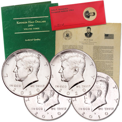 Image for 2010-2020 P&D Kennedy Half Dollar Set from Littleton Coin Company