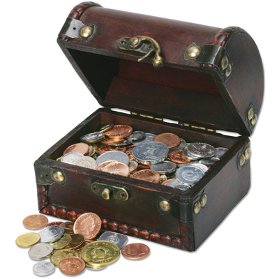 Image for 100 Coins from 100 Countries with Treasure Chest from Littleton Coin Company