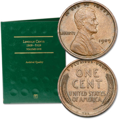 Image for 1909 VDB Lincoln Head Cent with Folder from Littleton Coin Company