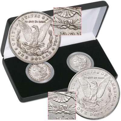 Image for 1878 7TF & 1878-S Morgan Dollar Set in Display Case from Littleton Coin Company