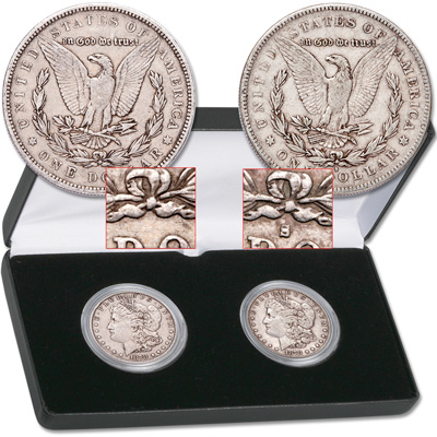 Image for 1878 7TF & 178-S Morgan Dollar Set from Littleton Coin Company