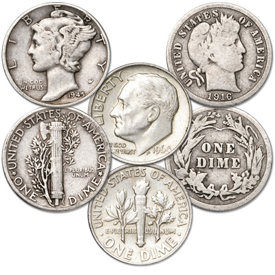 Image for U.S. Dime Type Set from Littleton Coin Company
