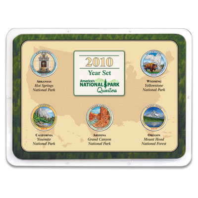 Image for 2010 Colorized National Park Quarter Year Set in Showpak from Littleton Coin Company