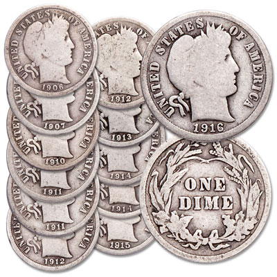 ALL 4 MINTS ARE IN THE MIX 1892-1916 MANY YEARS AVAILABLE BARBER DIME 1