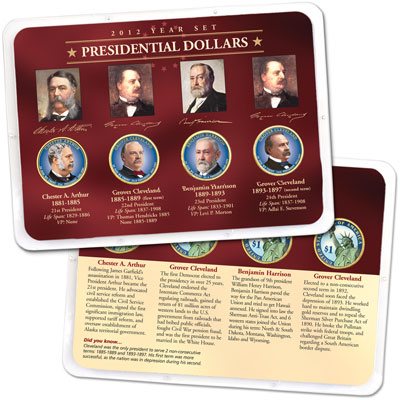 Image for 2012 Colorized Presidential Dollar Year Set in Showpak from Littleton Coin Company
